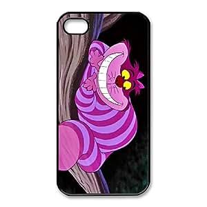 iPhone 4,4S Phone Case Black Disney Cheshire Cat SF8623300