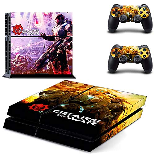 Gear of War PS4 Skin - Playstation 4 Console Skin and 2 PS4 Controller Skin Protective Vinyl Decal Cover by Mr Wonderful Skin