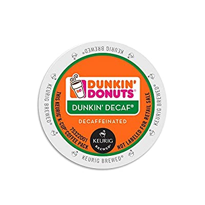 Dunkin Donuts Decaf Coffee K-Cups For Keurig K Cup Brewers (24 Count)