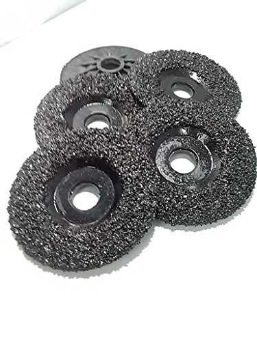 (5 Pack of Ultra Zek Wheels GRIT 16 Grinding Silicon Carbide Heavy Duty Discs Threaded 5/8