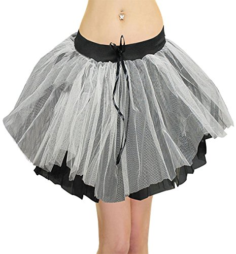 Islander Fashions Femmes 3 Couches Zombie Tutu Jupe Dames Fancy Hen Night Party Porter Jupe Taille Unique Zombie Tutu Skirt