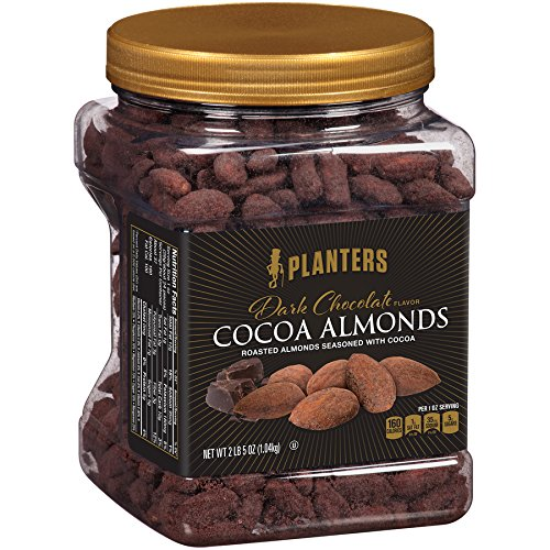 Planters Dark Chocolate Flavor Cocoa Almonds (37 oz Canister) (Roast Almonds Oven)