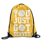 Marcus Just Volleyball Drawstring Bags ClassicVisor Backpack Sport Gym Bag School Travel Backpack for Teens College for Men & Women