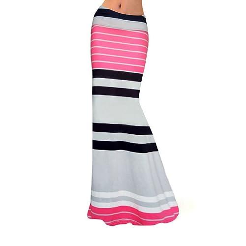 Las Mujeres Del Vestido De La Playa De La Cintura Falda Colorida Impresa Crecen Lapso