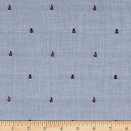 Amazon com: Robert Kaufman Sailors Cotton Dobby Sailboat