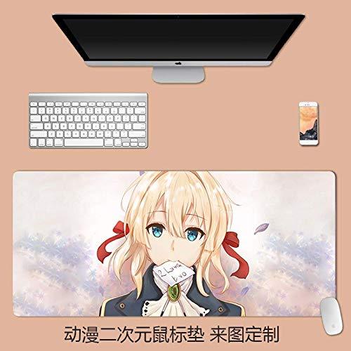 Anime Mouse pad Game Desk pad Lock Side Violet Eternal Garden, 1200x600mm, 3mm