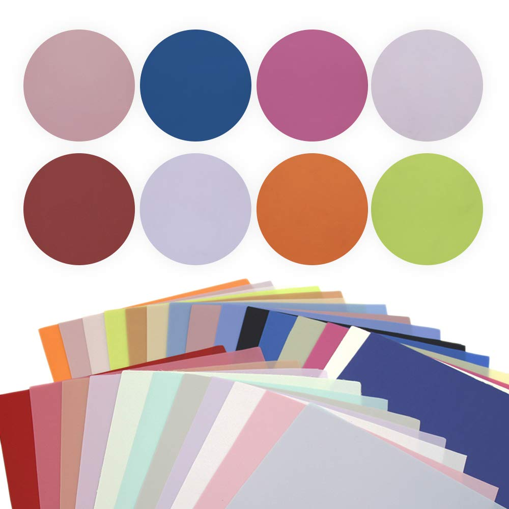 David accessories Solid Color Jelly Faux Leather Sheets Frosted Smooth Waterproof PVC Synthetic Leather Fabric 26 Pcs 8'' x 13'' (20cm x 34cm) for DIY Craft Project (26pcs Jelly Sheets) by David accessories (Image #2)