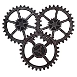 gears art - Baoblaze 3Pc Vintage Industrial Wooden Gear Steampunk 24cm for Wall Art Craft Plaques