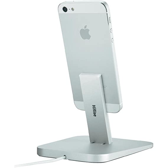 f2d2757583915b Amazon.com: Twelve South HiRise for iPhone/iPad, Silver | Adjustable charging  stand, requires Apple Lightning cable (not included): Cell Phones & ...