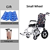 Premium Ultra-Lightweight Wheelchair, Multi-Function Folding Transport Chair Manual brake with Foot Rests
