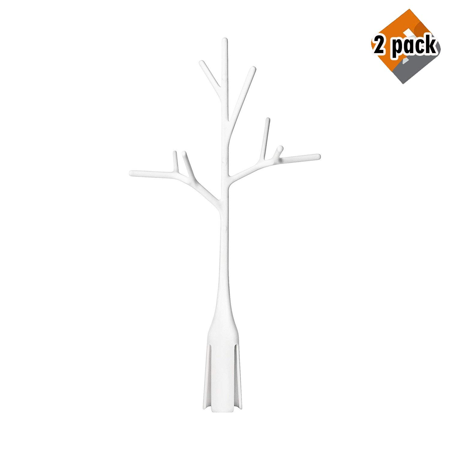 Boon Twig Grass and Lawn Drying Rack Accessory, White,Twig White (2 Pack) by Boon
