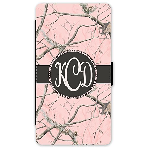 Simply Customized Phone Wallet Case, Compatible with iPhone 8 PLUS (5.5 inch) - Pink Camo Monogram Monogrammed Personalized