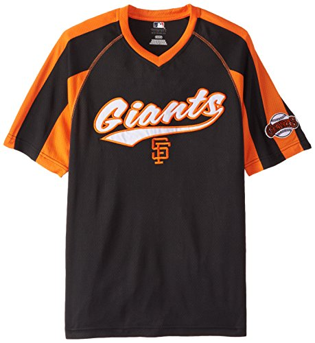 MLB San Francisco Giants Men's Pitch Perfection Coop Fashion Tops, Black/Orange, X-Large