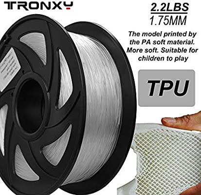 Filamento flexible de impresoras 3D de TPU, 1.75 mm, el color es ...