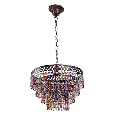 Wapipey Lámparas de techo de abalorios hechos a mano en ...