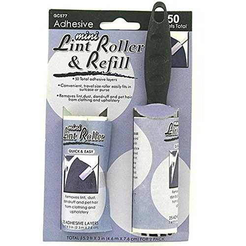 48 Mini adhesive lint roller with refill by FindingKing