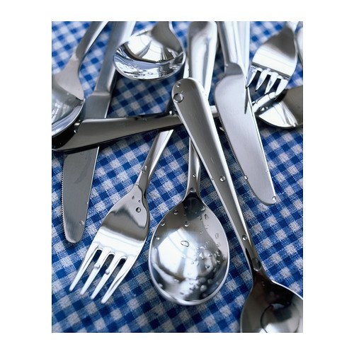 IKEA DRAGON - 24 piezas juego de cubiertos de acero inoxidable: Amazon.es: Hogar