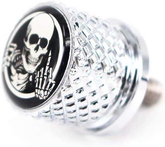 "Stainless Knurled Fender Seat Bolt Screw 1/4""-20 Thread For Harley Davidson - Skeleton Middle Finger"