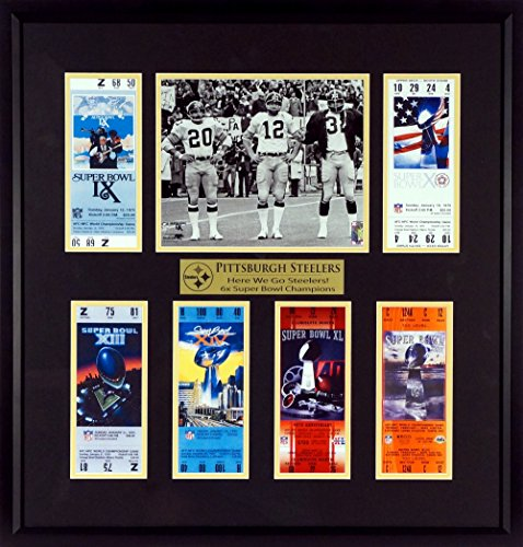 "Pittsburgh Steelers ""Here We Go Steelers!"" Super Bowl Tickets Display (Featuring Super Bowl IX Captains) ()"