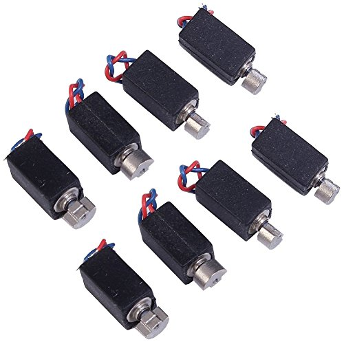 Icstation 3V 5400RPM Micro DC Coreless Vibration Motor for DIY Toys Models 2 Wire Rectangle 4X8mm (Pack of 50)