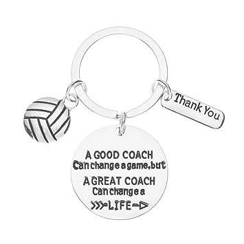 Amazon.com: Llavero de entrenador de voleibol, regalo de ...
