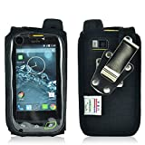 Turtleback Sonim XP7 Heavy Duty Fitted Phone Case - Made in USA (Black Nylon / Rotating Metal Clip)