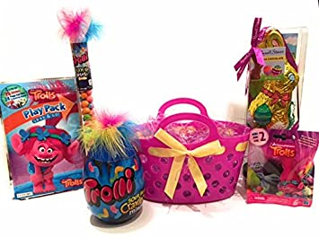 Amazon trolls easter basket with chocolate bunny trolli trolls easter basket with chocolate bunny trolli candy activity pack toy gift set negle Choice Image