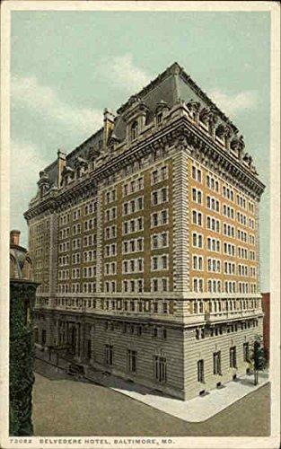 Belvedere Hotel Baltimore, Maryland Original Vintage Postcard