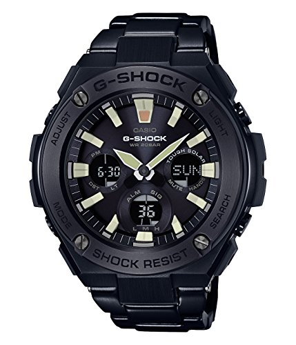 Men's Casio G-Shock G-Steel Black Ion-Plated Stainless Steel Watch ()