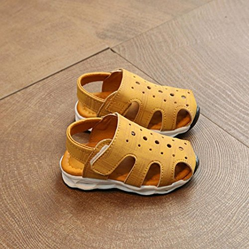Jamicy® Kinderschuhe Baby Jungen Mädchen Fashion Light Luminous Casual Sandalen Schuhe Gelb