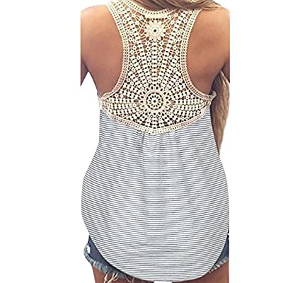 Womens Blouses Sale,KIKOY Summer Lace Vest Top Short Sleeve Casual Tank Tops