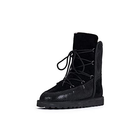 854485f6969f Hy Women s Boots Winter Fashion Snow Boots,Slip-Ons Lace-up High Boots