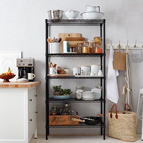 Kitchen Shelf Amazon: AmazonBasics 5-Shelf Shelving Unit