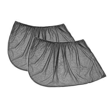 2 Pcs Slip On Window Shades Car UV Protection Curtain Sunshade Black Mesh Cover