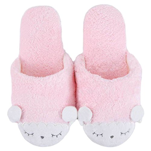 Pantofole Da Casa Peluche Di Bestfur Womens Cute Cosy Rosa