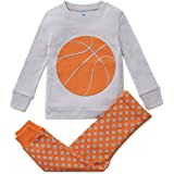 Boys Pajamas Soccer and Basketball 2 Piece 100% Super Soft Cotton (12m-8y)