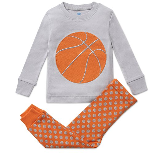 Bluenido Boys Pajamas Basketball 2 Piece 100% Super Soft Cotton 2Y