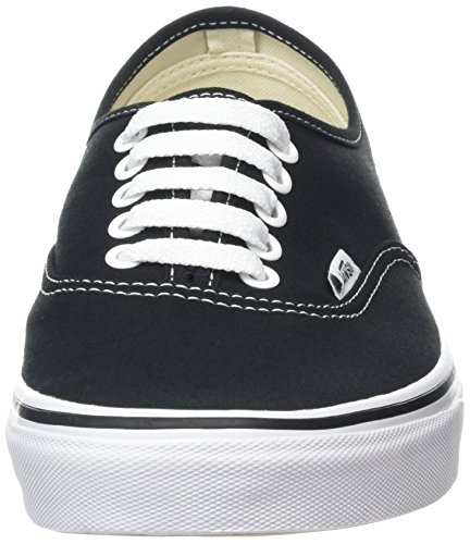 Adulto White Negro Unisex Black Vans Authentic Zapatillas x7pRqZpv0
