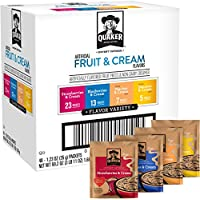 48-Count Quaker Instant Oatmeal Fruit and Cream Variety Pack, Breakfast Cereal