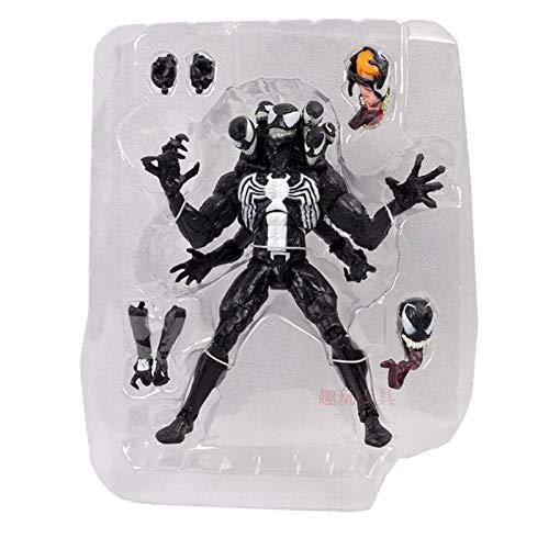 LULUDP Anime-Modell Anime Charakter Modell Venom 20cm Schlachtung Spider-Man Spider-Man Spider-Man mit austauschbaren Kopf, Handteile Ersatz Puppe Spielzeug Geschenk Modell Ornamente B07NV52DQX | Der neueste Stil  ea643b