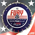 Fury Diamond Blade Made in the USA! for Very Hard Aggregate, Hard Brick, Hard Block, Concrete