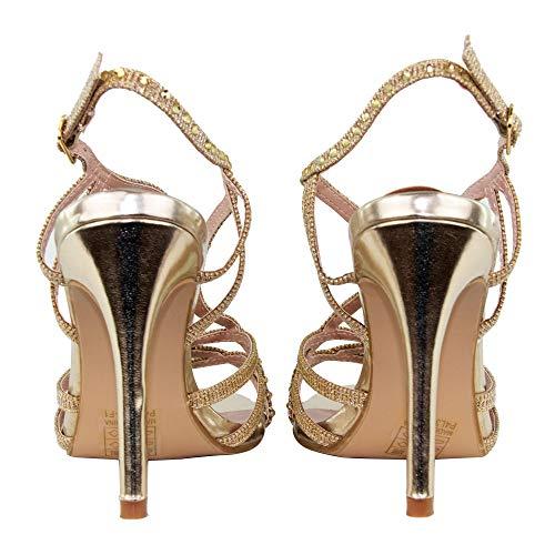 10 E Gioiello Cm Tacco Lurex Alto Rja354l Sandalo 5 In Stiletto Tulipano srxhCtQd