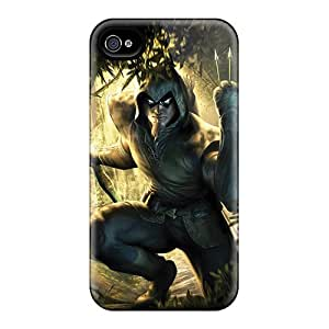 Perfect Cell-phone Hard Cover For Iphone 4/4s With Custom HD Green Arrow I4 Image DrawsBriscoe