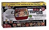 Red Copper Non-Stick Square Ceramic Cookware 5 Piece Set