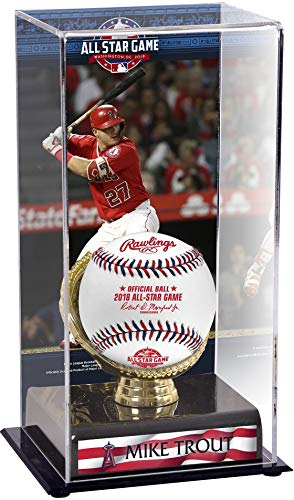- Sports Memorabilia Mike Trout Los Angeles Angels 2018 MLB All-Star Game Gold Glove Display Case with Image - Baseball Free Standing Display Cases