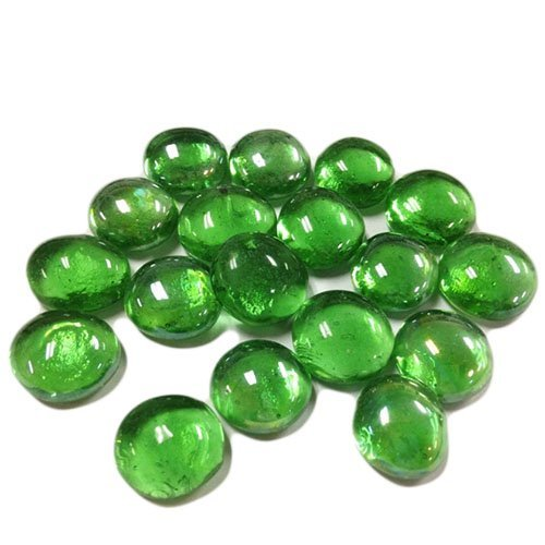 CYS EXCEL Vase Filler Gem Glass Confetti, Table Scatters, Green, 1 lb per Bag (5 Bags), Approximately 500 pcs