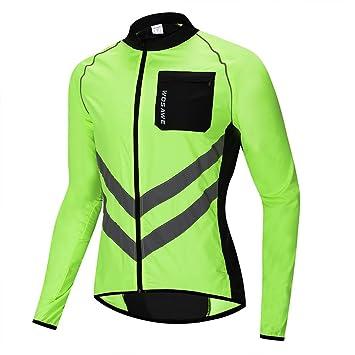 Lixada Giacca da Ciclismo Antivento da Uomo,Giacca Sportiva Riflettente Manica Lunga Inverno Caldo MTB Abbigliamento