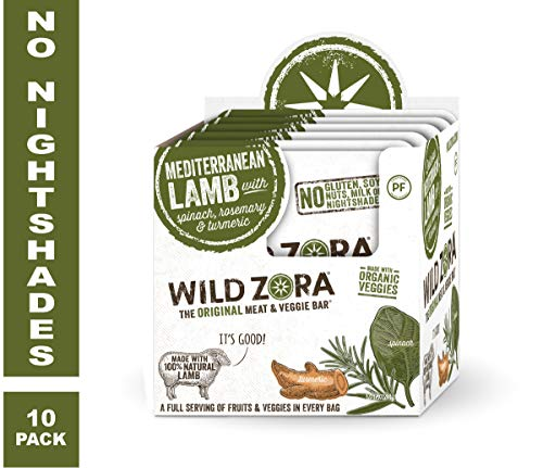 Wild Zora - Mediterranean Lamb - Meat and Veggie Bars (10-pack)