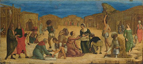 - Oil Painting 'Ercole De Roberti - The Israelites Gathering Manna,probably 1490s' 10 x 22 inch / 25 x 57 cm, on High Definition HD canvas prints is for Gifts And Foyer, Laundry Room And Nursery decor