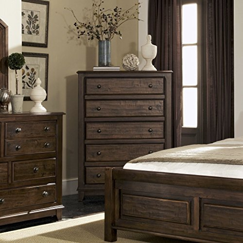 Coaster Home Furnishings Laughton 5-Drawer Chest Rustic Brow